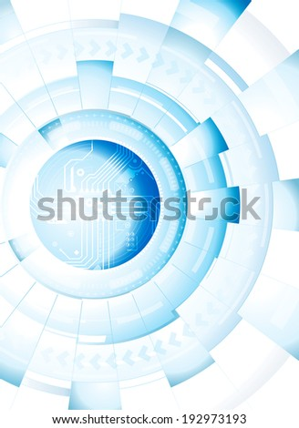 Abstract technology blue white background. Raster. - stock photo