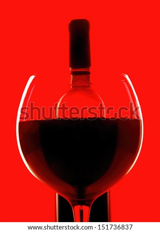 .Abstract wine glassware background design. - stock photo