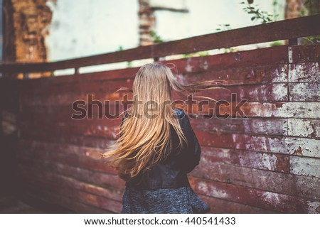 adults, beautiful, beauty, casual, caucasian, fashion, female, girl, happiness, hipster, human, life, lifestyle, outdoors, people, smiling, style, women, wooden, young - stock photo