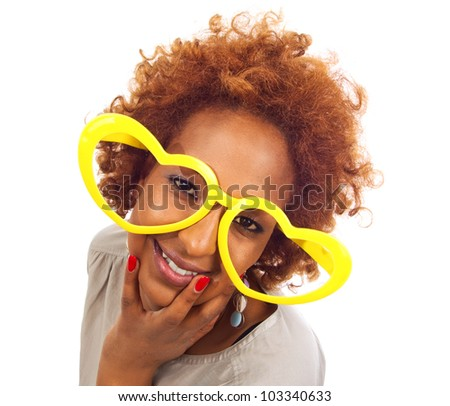African funny women - stock photo