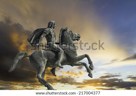 Alexander the Great, Greece - stock photo