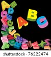 Alphabet  background for design - stock photo