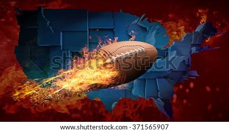 American football concept - stock photo