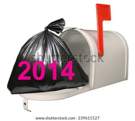 2014 and Mailbox. - stock photo