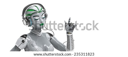 Android technology  - stock photo