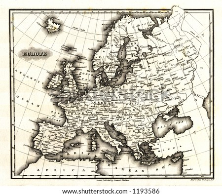 1799 Antique Map of Europe - stock photo