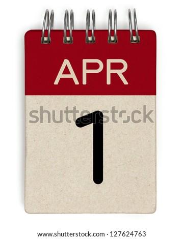 1 april calendar - stock photo