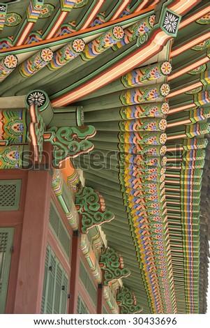 Asian colorfull timber (seoul) - stock photo