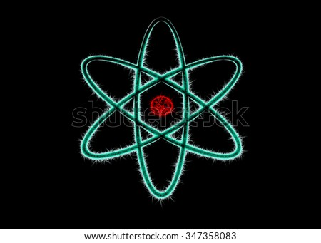 Atom background science - stock photo