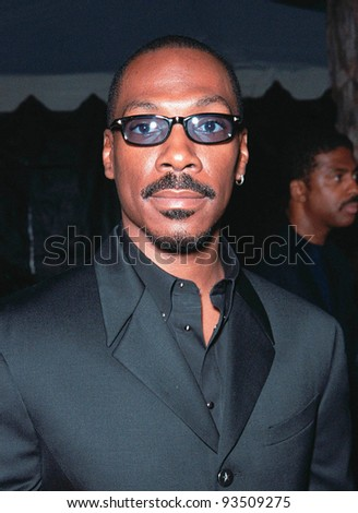 "10AUG99: Actor EDDIE MURPHY at the Los Angeles premiere of his new movie ""Bowfinger"" in which he stars with Steve Martin.  Paul Smith / Featureflash - stock photo"