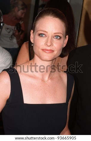"04AUG97:  Actress JODIE FOSTER at the premiere in  Los Angeles of ""Conspiracy Theory.""  The movie stars Mel Gibson & Julia Roberts. - stock photo"