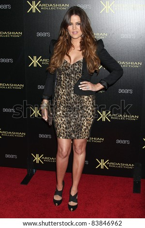 17 August 2011 - Hollywood, California - Khloe Kardashian. Kardashian Kollection Launch Party held at The Colony. Photo Credit: Russ Elliot/AdMedia - stock photo