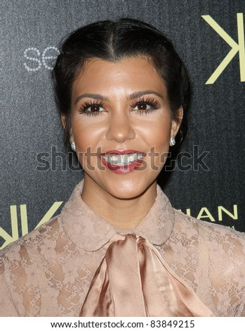 17 August 2011 - Hollywood, California - Kourtney Kardashian. Kardashian Kollection Launch Party Held at The Colony. Photo Credit: Kevan Brooks/AdMedia - stock photo