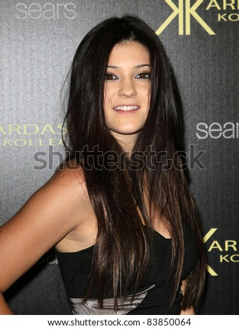 17 August 2011 - Hollywood, California - Kylie Jenner. Kardashian Kollection Launch Party Held at The Colony. Photo Credit: Kevan Brooks/AdMedia - stock photo