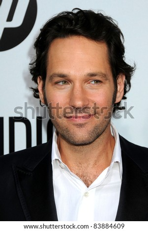 "16 August 2011 - Hollywood, California - Paul Rudd. ""Our Idiot Brother"" Los Angeles Premiere held at Arclight Cinemas. Photo Credit: Byron Purvis/AdMedia - stock photo"