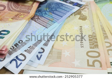 background  Euro Money . - stock photo