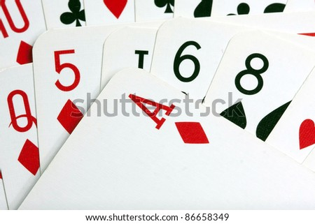background from poker cards - stock photo