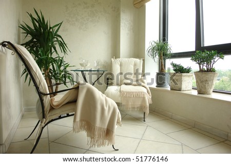 Balcony - stock photo