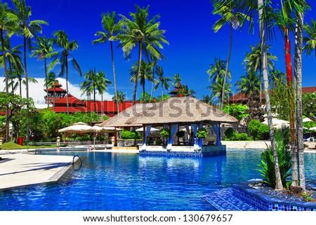 Balinesian holidays - stock photo