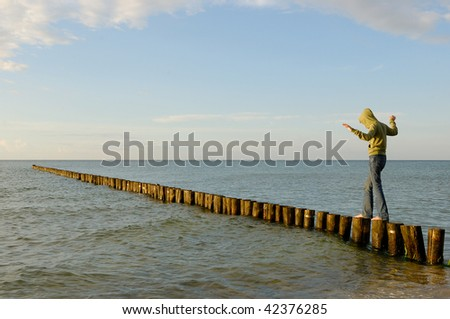 Baltic-Sea in Germany - Zingst - stock photo