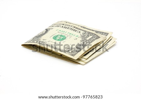 $1 banknotes - stock photo
