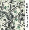 $100 banknotes background - stock photo