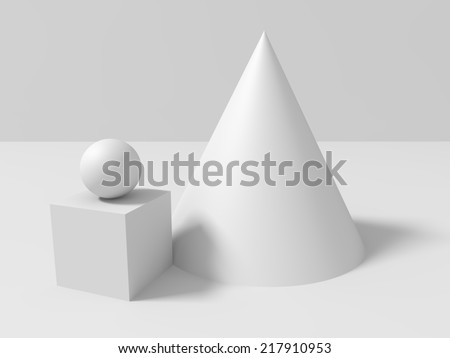 basic geometric shapes  composition  - stock photo