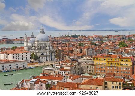 Basilica di Santa Maria della Salute in Venice, Italy - stock photo