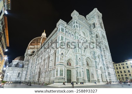 Basilica of Santa Maria del Fiore (Basilica of Saint Mary of the Flower) in Florence, Tuscany, Italy   - stock photo