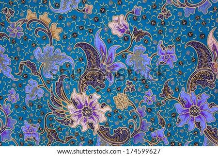 batik sarong  pattern background in Thailand, traditional batik sarong in Asian - stock photo