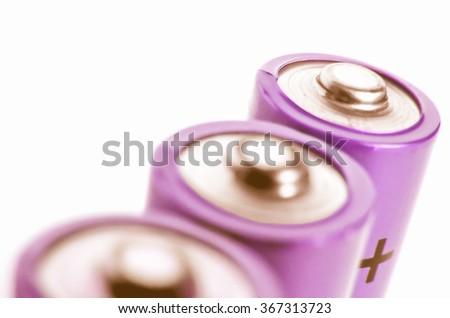 Batteries cells vintage - stock photo