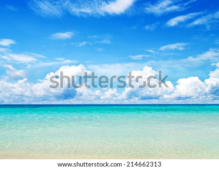 beach and tropical sea - stock photo