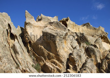 Bear rock, Cape Dorso, north Sardinia, Italy. - stock photo