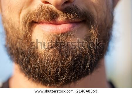 Bearded man close up  - stock photo