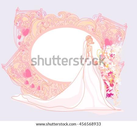 Beautiful bride card  - stock photo