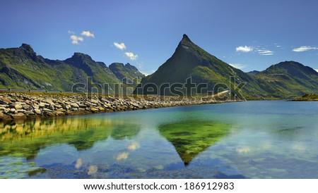 Beautiful landscape of Norway, Scandinavia - stock photo