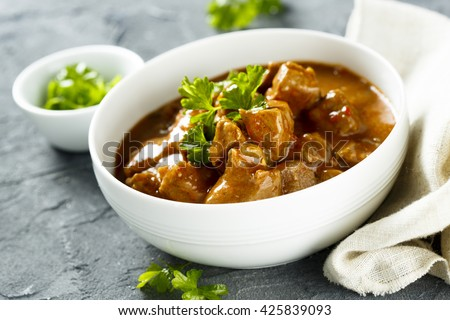 Beef goulash with tomatoes - stock photo