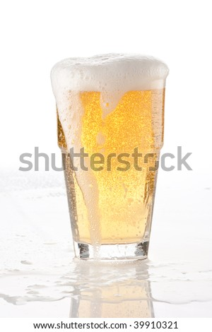 beer in a glass - stock photo