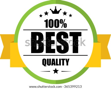 100% Best quality guarantee green, Button, label and sign. - stock photo