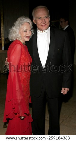 11/19/2005 - Beverly Hills - Buzz Aldrin and wife at the Diamond Jubilee Spirit of Hollywood Awards at the Beverly Hilton hotel in Beverly Hills , California, United States.  - stock photo