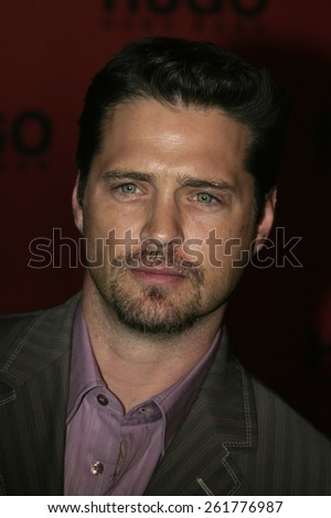 03/15/2005 - Beverly Hills - Jason Priestley at the Hugo Boss Fall Winter 2005 Men's and Women's Collections Party and Fashion Show - Arrivals at The Beverly Hills Hotel. - stock photo