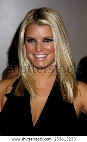 02/10/2009 - Beverly Hills - Jessica Simpson at the Operation Smile's 8th Annual Smile Gala held at the Beverly Hilton Hotel in Beverly Hills, California, United States.  - stock photo