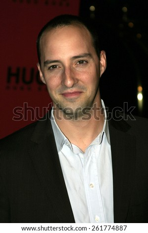 03/15/2005 - Beverly Hills - Tony Hale at the Hugo Boss Fall Winter 2005 Men's and Women's Collections Party and Fashion Show - Arrivals at The Beverly Hills Hotel. - stock photo