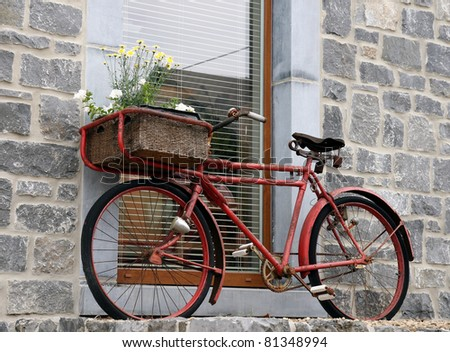 """bicycle red decor"" - stock photo"