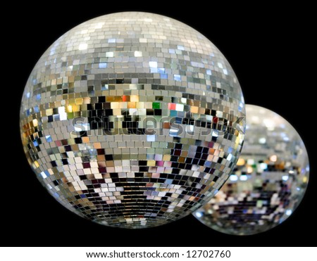 big disco balls - stock photo