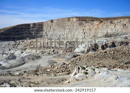 Big quarry near Drejat village in Israel                               - stock photo