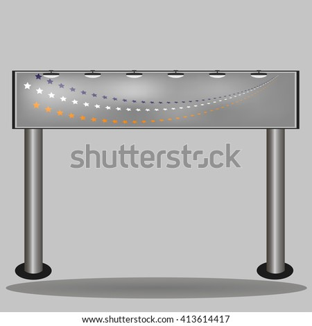 Billboards outdoor . Blank big billboard . Stand for advertising. Space for your advertising. blank layout. illustration - stock photo