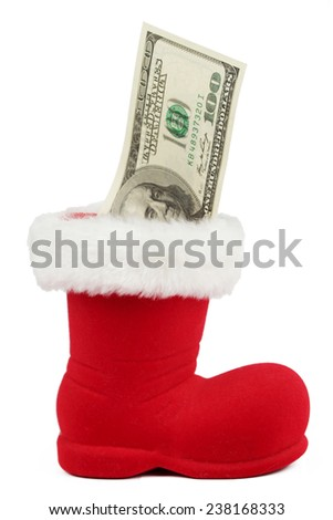$100 bills on Holiday - stock photo