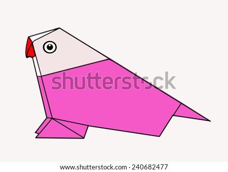 birds art - stock photo