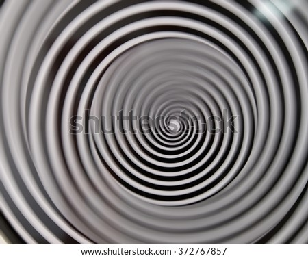 Black and white spiral background  - stock photo